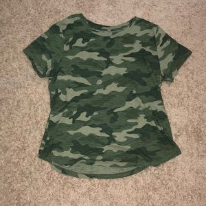 A camouflage t-shirt